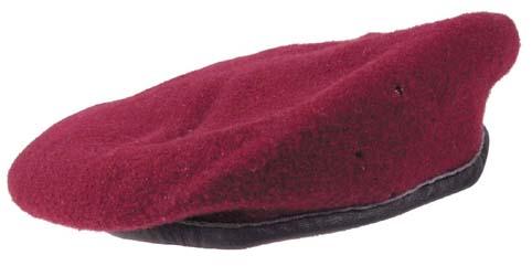 23bfcdd5525 Bw tmavě červený baret - originál
