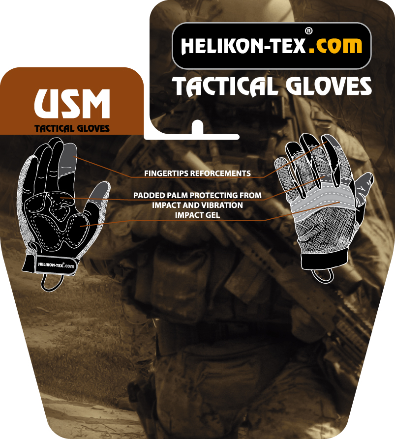 acc7336a0 Taktické rukavice USM [Helikon]